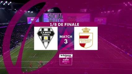 In Extenso Supersevens - Résumé  Brive-Monaco- 12-17 - 1/8e de finale - Saison 2019-2020