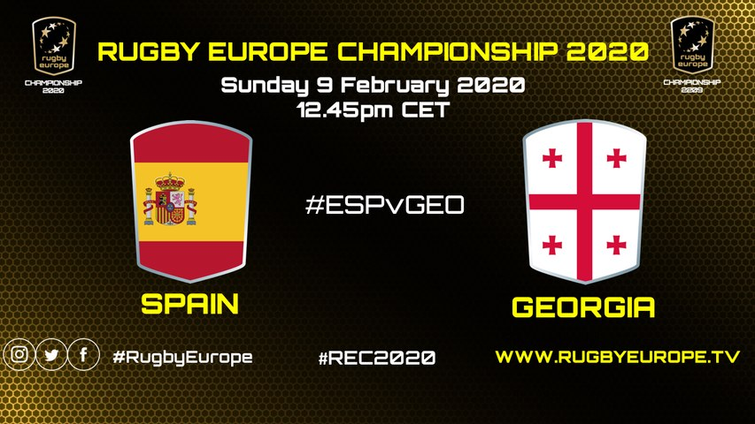 SPAIN / GEORGIA - RUGBY EUROPE CHAMPIONSHIP 2020