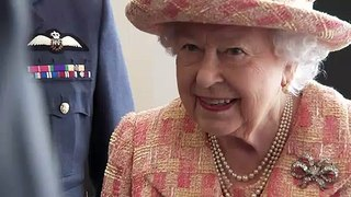 Queen gets a look at UK's fighter jets on royal visit