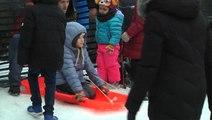 Outdoor sports fun at New York City Winter Jam