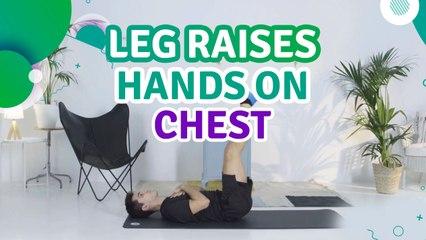Leg raises, hands on chest - Fit People