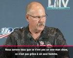 """Super Bowl LIV - Reid : """"Pas grâce à un seul homme"""""""