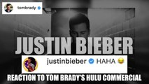 Celebrity reaction to Tom Brady's Hulu commercial during Super Bowl LIV