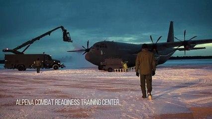 Royal Danish Air Force C 130 Prepares for Michigan takeoff Jan. 21, 2020