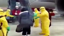 Coronavirus : Passengers sprayed with hoses on runway after flying from coronavirus epicentre