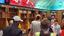 Patrick Mahomes walks into Chiefs locker room for first time as a Super Bowl champion - FOX NFL