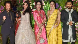 Aishwarya, Aaradhya, Kareena, Karisma Bollywood STARS At Armaan Jain Wedding RECEPTION | UNCUT
