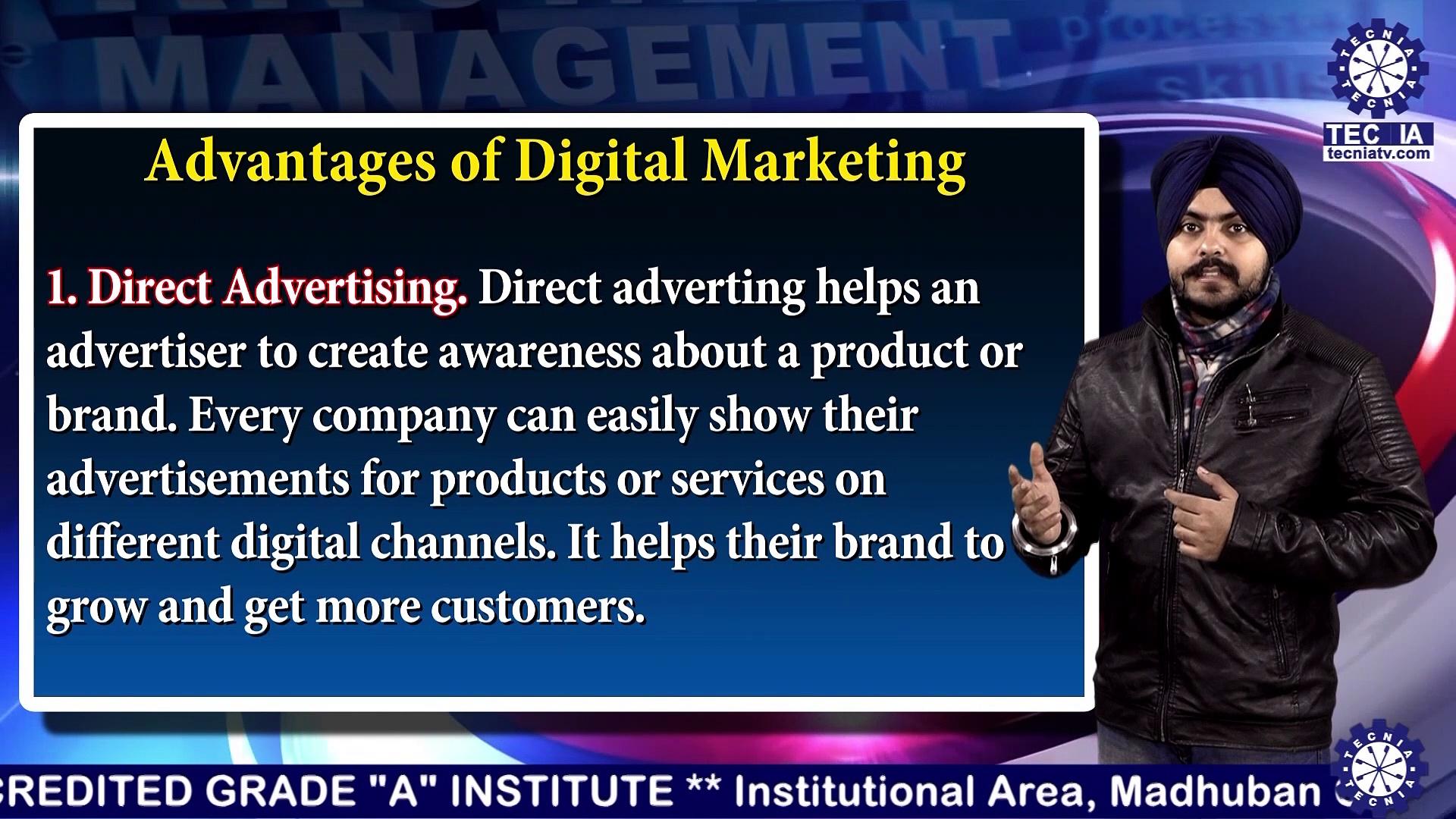 BBA || Mr. INDERPREET SINGH ||  Advantages & Challenges of Digital Marketing || TIAS || TECNIA TV