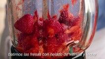 Receta de batido de fresa