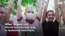 'One for all, all for one' - leukemia patient's family goes bald in solidarity