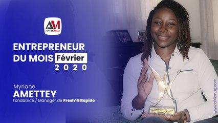 """Entrepreneur du Mois : Myriane Amettey, créatrice du concept """"FRESH AND RAPIDO"""""""