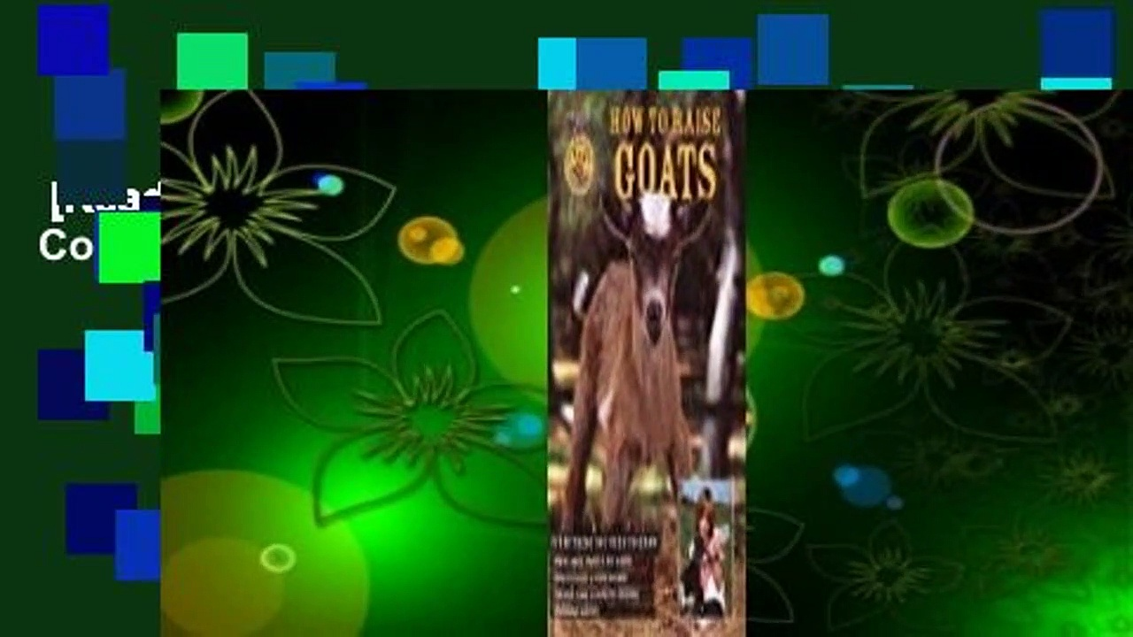 [Read] How to Raise Goats Complete