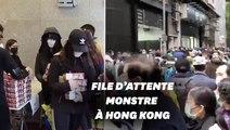 Face au Coronavirus, des milliers de Honkongais font la queue pour acheter les derniers masques
