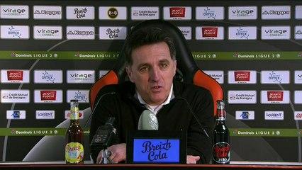 La réaction de Christophe Pelissier après FC Lorient - Le Mans (4-2) 19-20