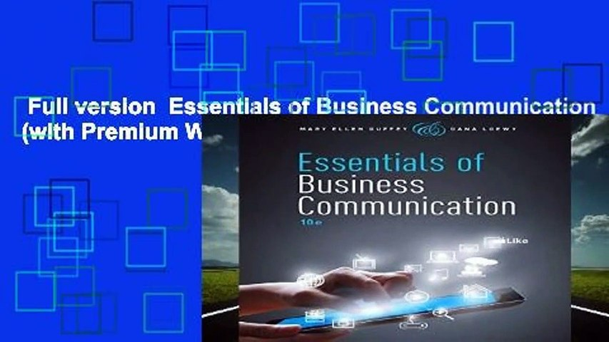 Full version  Essentials of Business Communication (with Premium Website, 1 term (6 months)