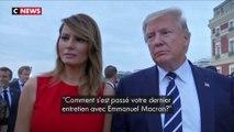 """Donald Trump à propos d'Emmanuel Macron : """"C'est un super mec"""""""