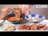 ASMR Spicy cold noodle & Pork barbecue EATING SOUNDS!   불냉면에 통갈비 이팅사운드 노토킹