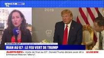 """Donald Trump déclare avoir dit """"allez-y"""" à Emmanuel Macron pour la visite du ministre iranien au G7"""