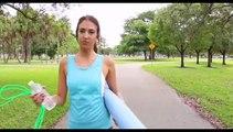Yoga outdoor Namaste, My daily yoga stretching trainer_