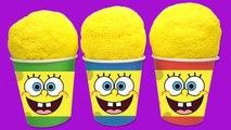 Sponge Bob Foam Clay Suprise Eggs Icecream Cups Inside Out Disney Car Minions