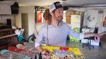 Seichamps : Florent Baraban  fait des lunettes et des montres avec des skateboards