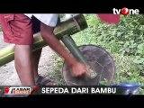 Siswa SDN Isong Kalua ke Sekolah Pakai Sepeda dari Bambu