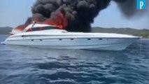 Corse : le rappeur Gims et cinq autres personnes abandonnent un bateau en feu