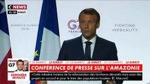 Emmanuel Macron : « J'espère très rapidement que le peuple brésilien aura un président qui se comporte à la hauteur »