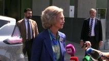La reina Sofía se pronuncia sobre la visita de las infantas al rey Juan Carlos