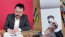 De sa maison d'enfance à l'homme de l'an 3000, Riad Sattouf répond en dessin à nos questions dans son interview Papier Crayon  Un bel échauffement avant le Festival de la BD d'Angoulême où il sera à l