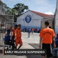 DOJ suspends inmates' early release based on good conduct