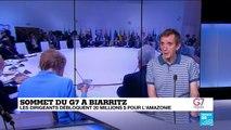 G7 à Biarritz : les dirigeants débloquent 20 millions $ pour l'Amazonie