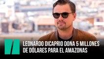 Leonardo DiCaprio dona 5 millones de dólares para ayudar al Amazonas
