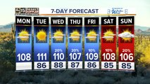 Temperatures rising with monsoon storm chances