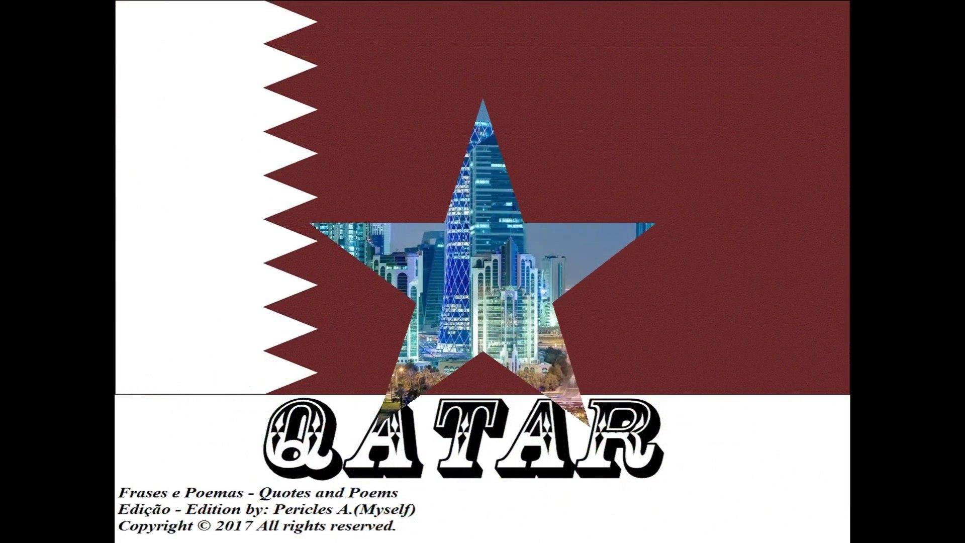 Bandeiras e fotos dos países do mundo: Qatar [Frases e Poemas]