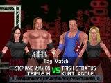 WWF No Mercy Invasion Mod Matches HHH & Stephanie Mcmahon vs Kurt Angle & Trish Stratus