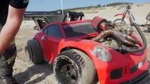 Une voiture électrique avec un vrai moteur
