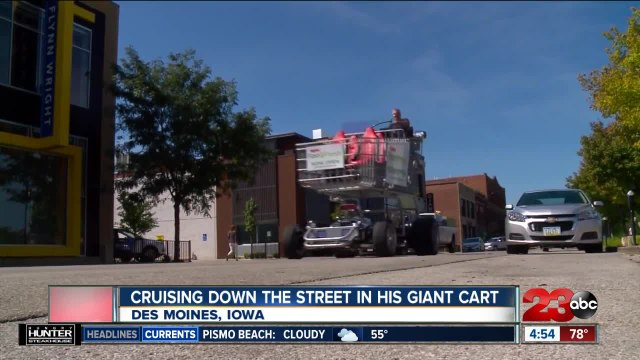 Check This Out: Cruising down the street in a giant shopping cart
