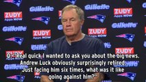 Bill Belichick Gives Most Bill Belichick Answer About Andrew Luck's Retirement