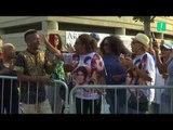 Des centaines de fans réunis pour accueillir le corps d'Aretha Franklin au Wright Museum à Detroit