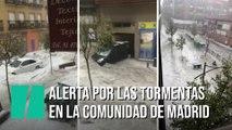 Alerta por las fuertes tormentas en la Comunidad de Madrid