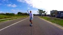 Shoe-less Skater Takes a Tumble