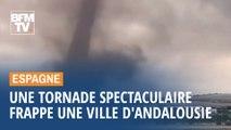 En Espagne, une tornade spectaculaire frappe la ville de Campillos, au nord de Malaga