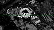 Day 1 highlights - Serena thrashes Sharapova, Federer pushed to four sets