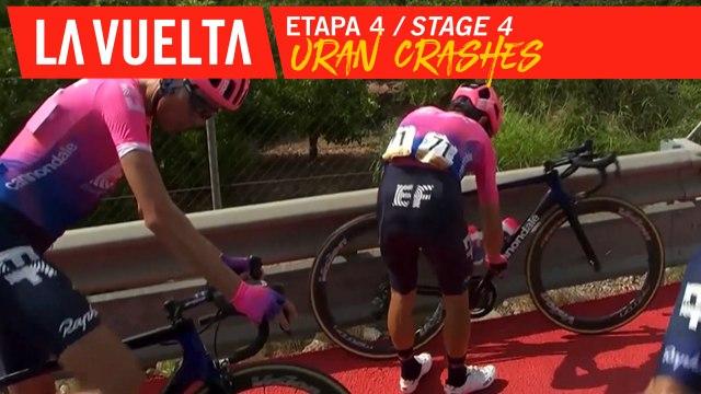 Chute d'Uran / Uran crashes - Étape 4 / Stage 4 | La Vuelta 19