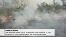 Brazilian troops fight fires in 8 Amazon states