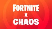 Annonce de l'événement Fortnite x Chaos