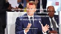 Retraites : Macron « préfère un accord sur la durée de cotisation plutôt que sur l'âge »