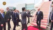 """شاهد.. الرئيس السيسى يصل اليابان للمشاركة فى قمة """"تيكاد"""""""