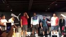 Usain Bolt, Florent Manaudou et d'autres athlètes rassemblés à Marseille